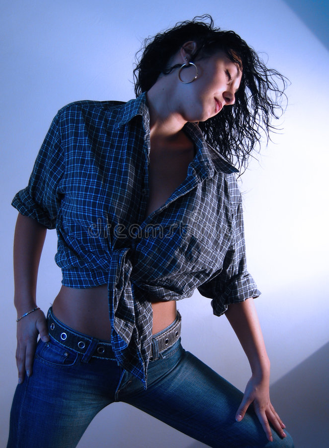 jeansy 1 kobieta zdjęcie stock