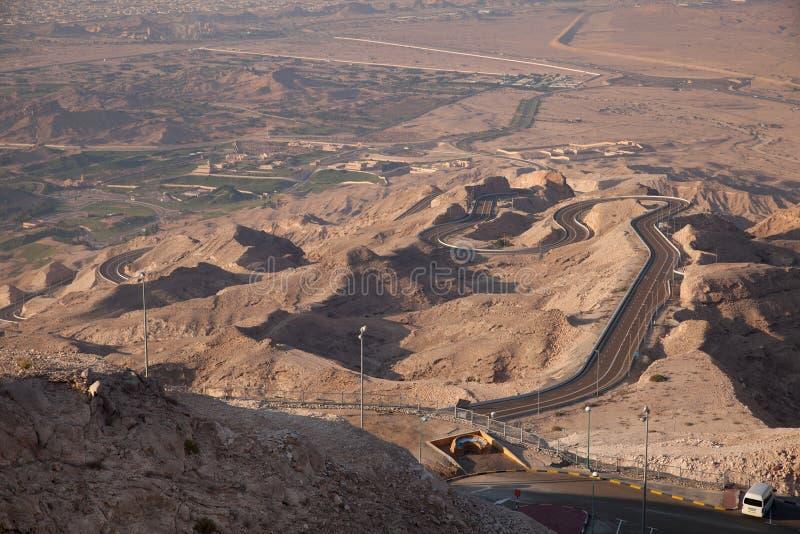 Jebel Hafeer imagem de stock