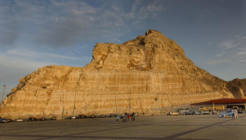 Jebel Hafeet Berg in Al Ain stockbilder