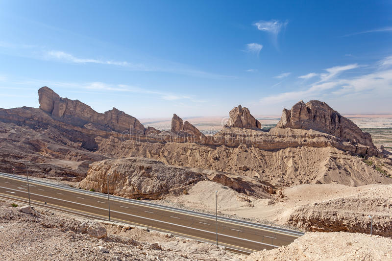 Jebel Hafeet mountains in the UAE stock photography