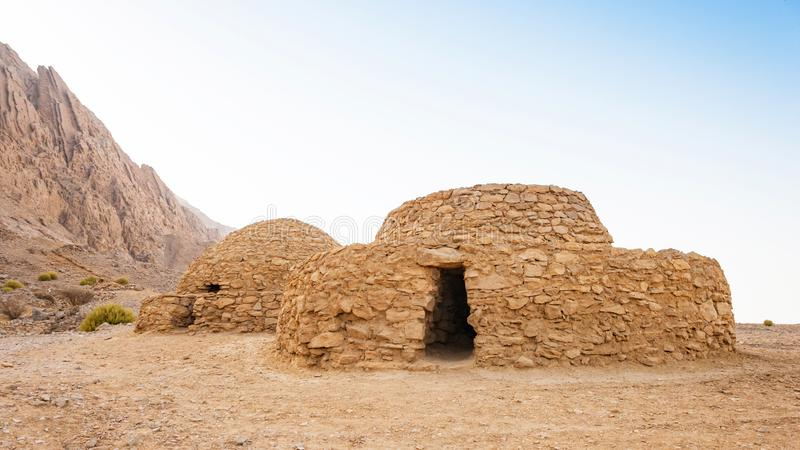 Jebel Hafeet Tombs in the UAE stock photos