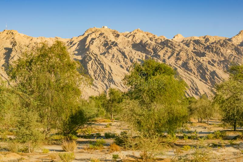 Jebel Hafit near Al Ain in the UAE royalty free stock image