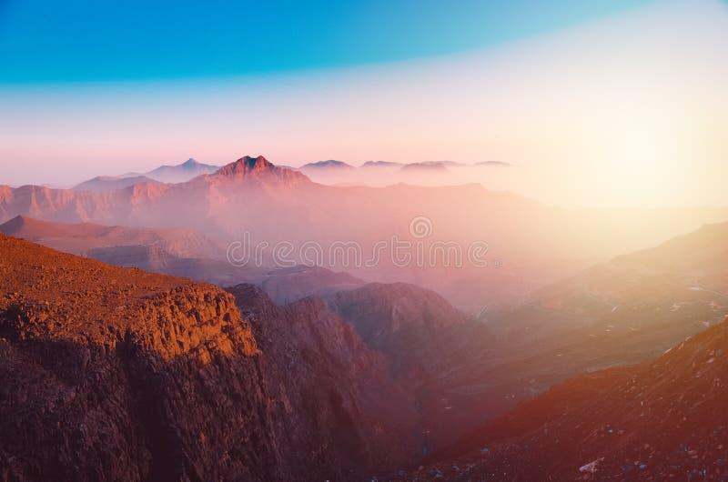 Jebel Jais berg i Ras Al Khaimah royaltyfri foto