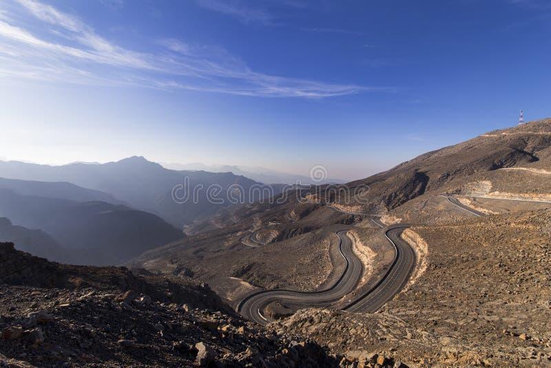 Jebel Jais, Ras Al Khaima royaltyfri fotografi