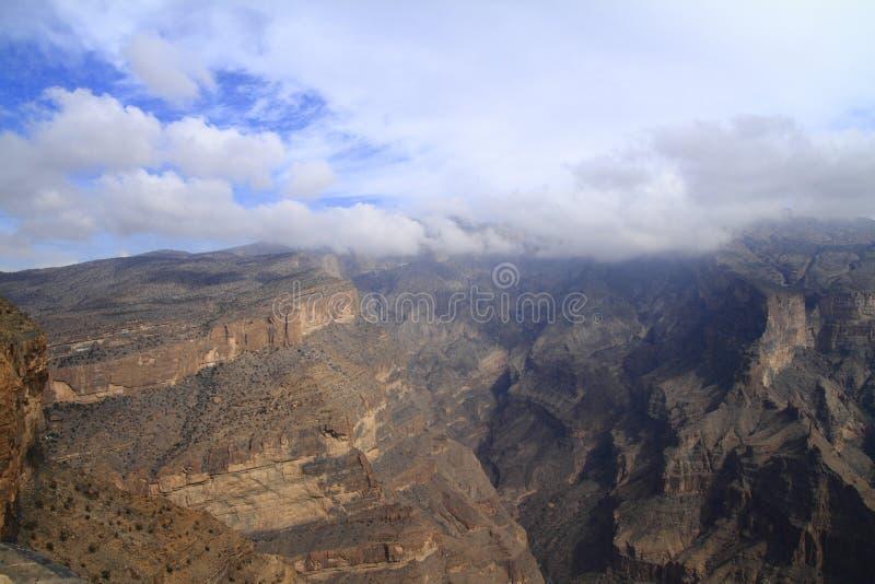 Jebel Shams royalty free stock photography