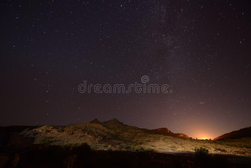 Jebel Shams Milky Way stock photography