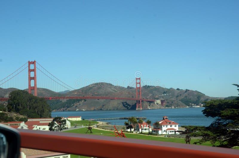 Jechać blisko Golden Gate Bridge zdjęcie royalty free