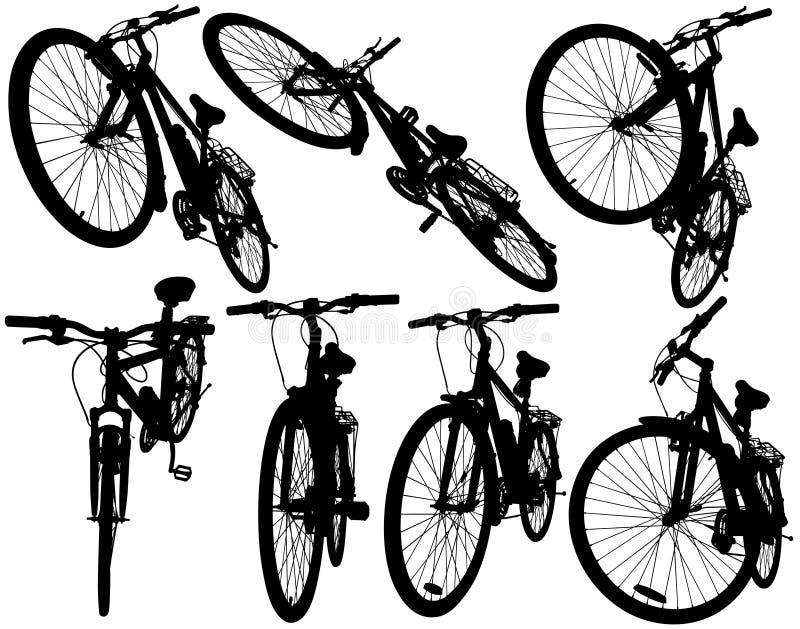 jechać na rowerze górę ilustracji