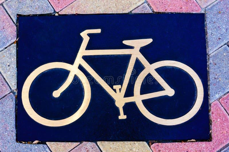 Jechać na rowerze plakietę zdjęcia stock