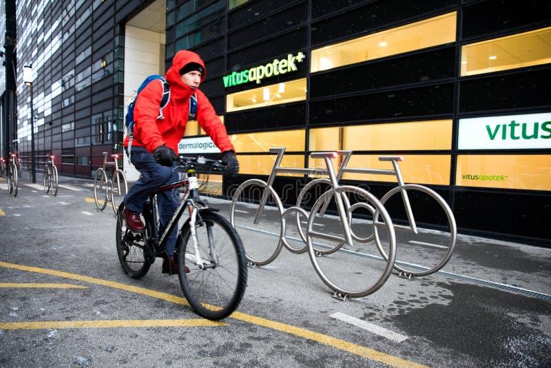 Jechać na rowerze w Oslo obrazy royalty free