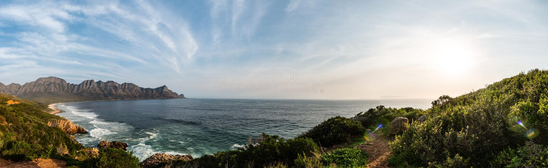 Jechać wzdłuż Ogrodowej trasy blisko Kapsztad obrazy stock