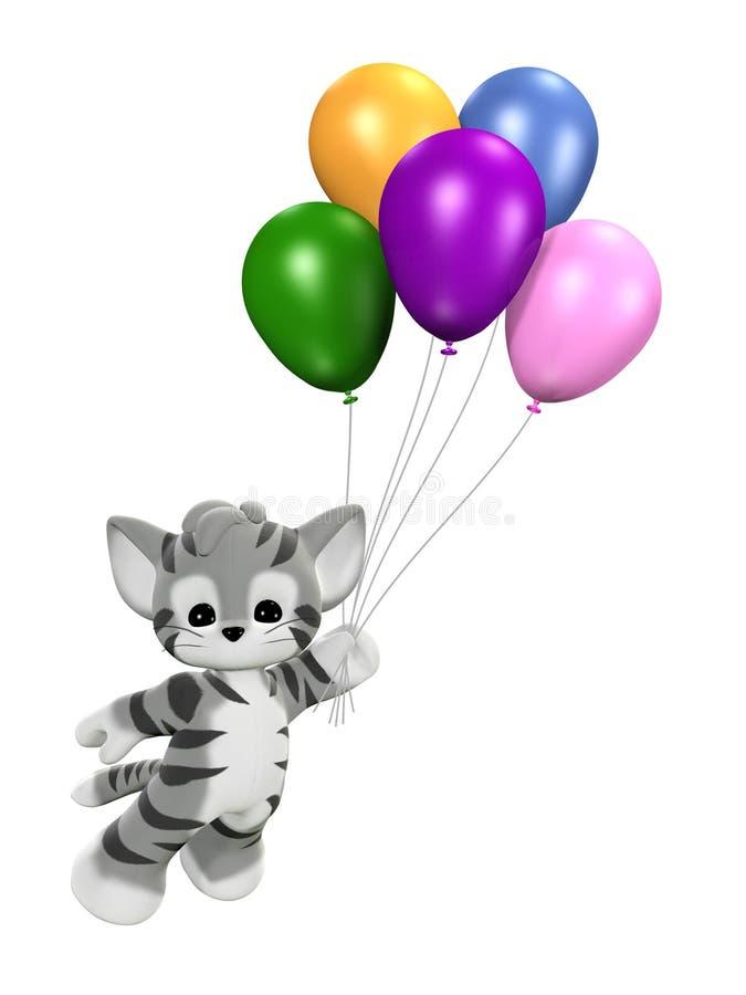 jedź balonowa ilustracji