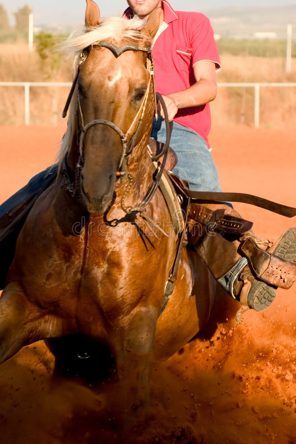 jedź końskiego stylu western obraz royalty free