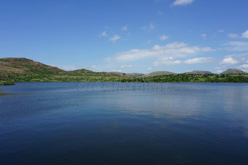 jed johnson lake royaltyfria foton