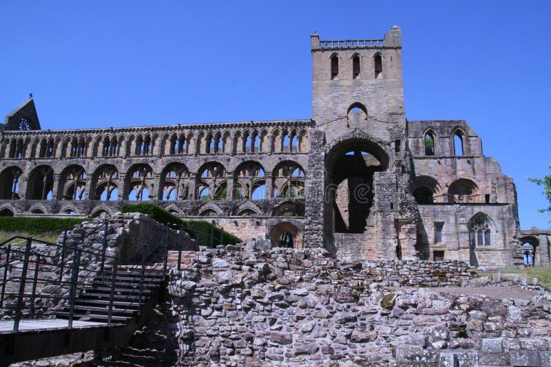 Jedburgh修道院在Jedburgh苏格兰 免版税库存图片