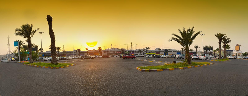jeddah σκηνή ηλιοβασιλέματος & στοκ εικόνες