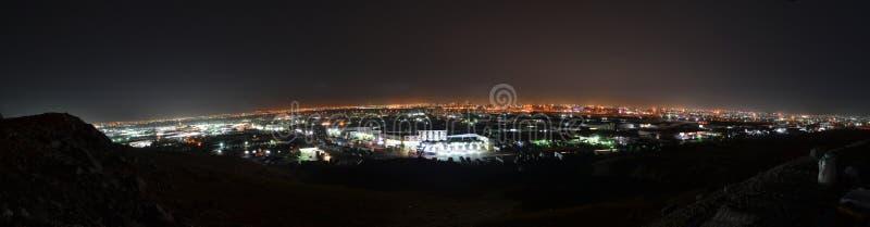 Jeddah at night panorama stock image