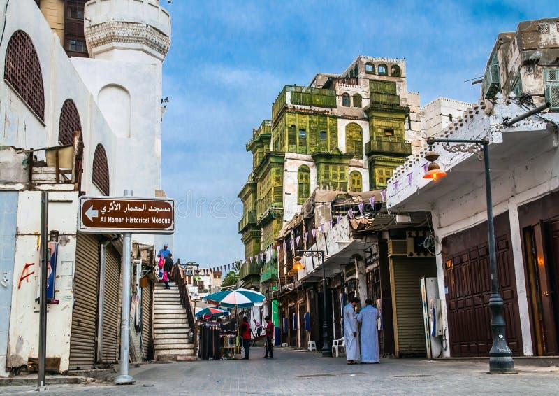 Jeddah Oude Stad stock foto's