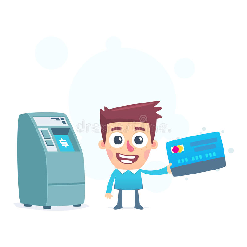 Jede Kreditkarte hat sein eigenes ATM lizenzfreie abbildung