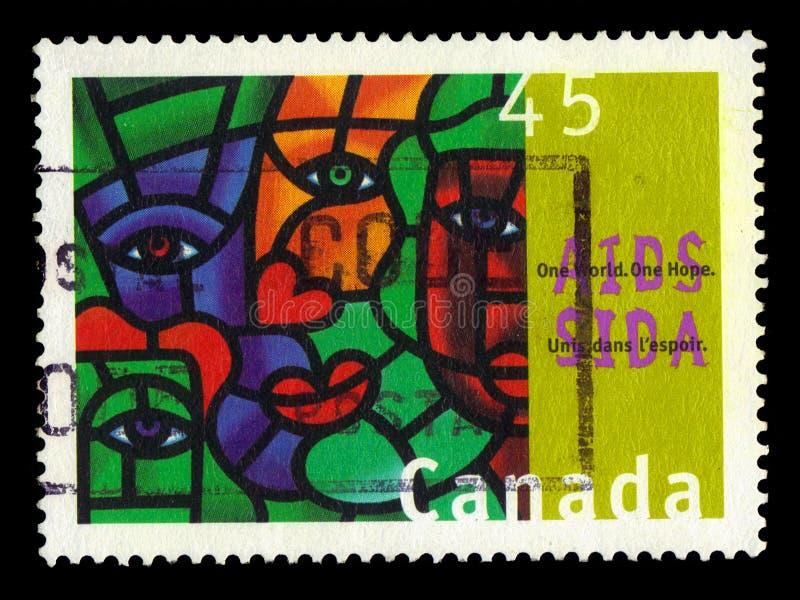 Jeden świat, jeden nadzieja, maluje kanadyjski malarza Joe średnia obrazy royalty free