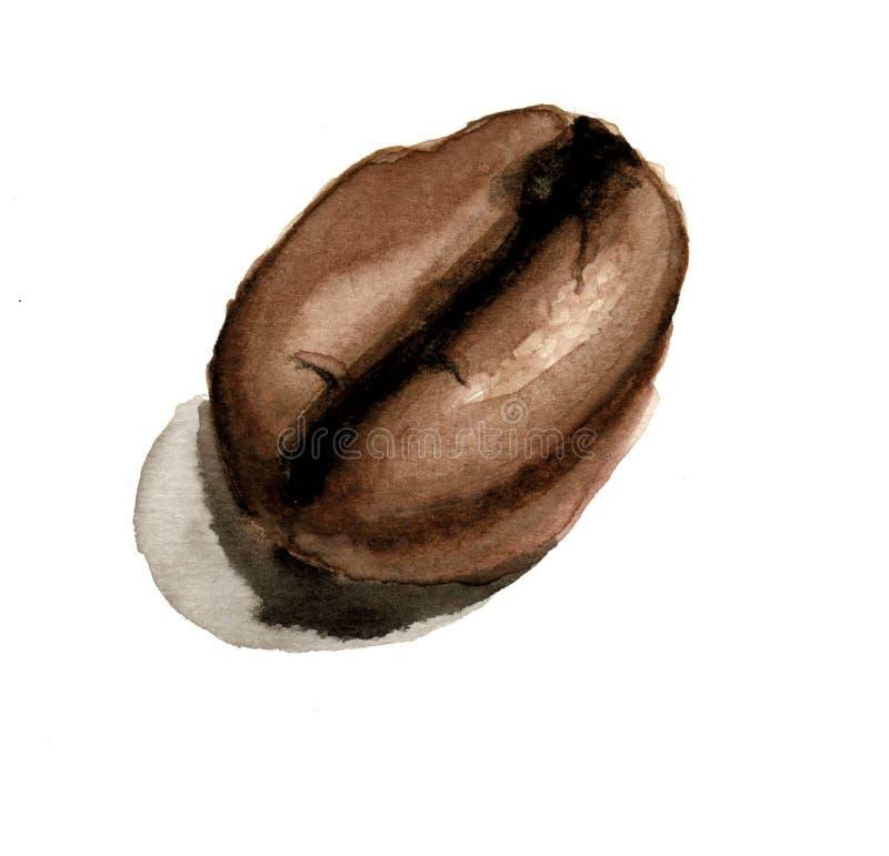 Jeden brąz kawowa fasola ilustracja wektor