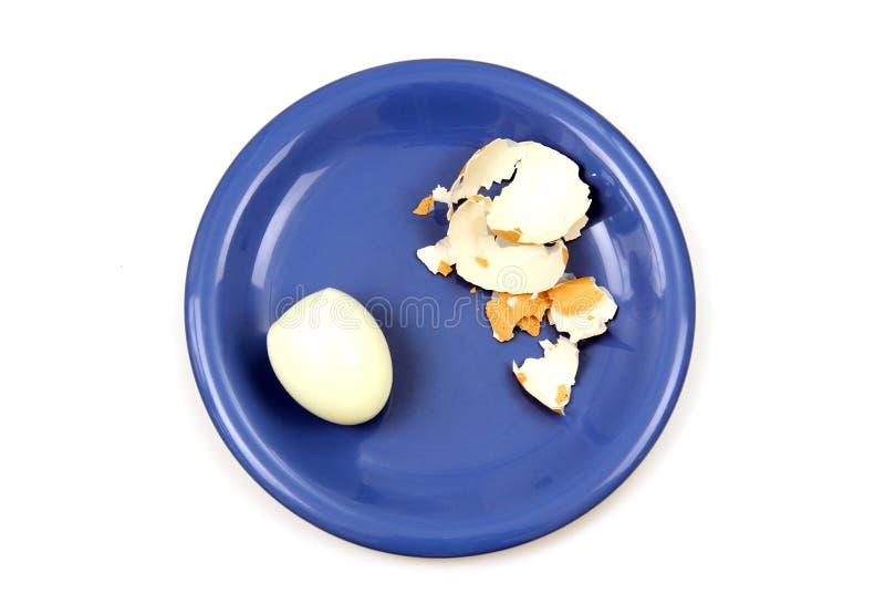 Jajko na talerzu. obrazy stock