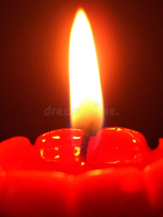 jeden candle fotografia royalty free