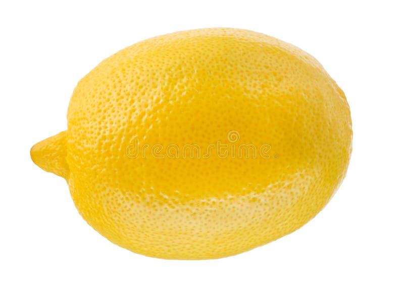 Jeden cytryna odizolowywająca na białym tle owoce tropikalne obraz royalty free