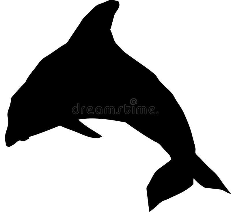 Jeden delfin. ilustracji