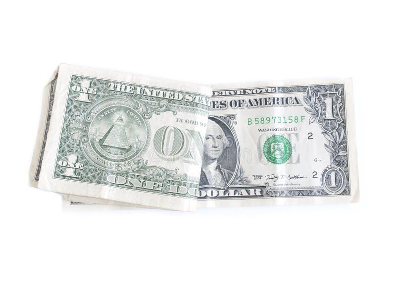 Jeden dolarowi rachunki zdjęcia stock