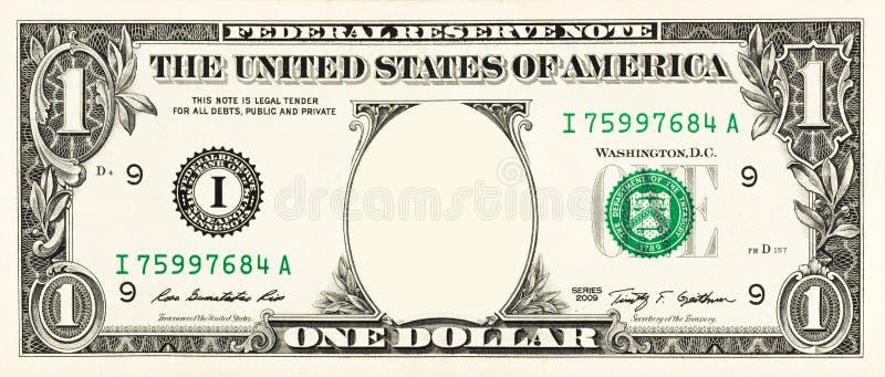 Jeden dolarowy rachunek fotografia royalty free