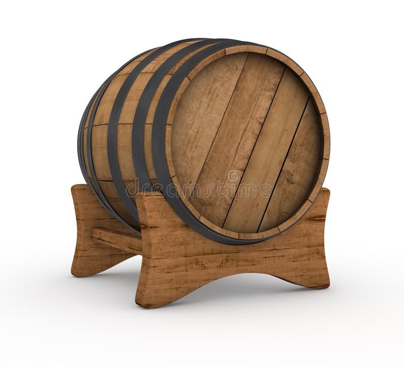 Drewniana baryłka ilustracji