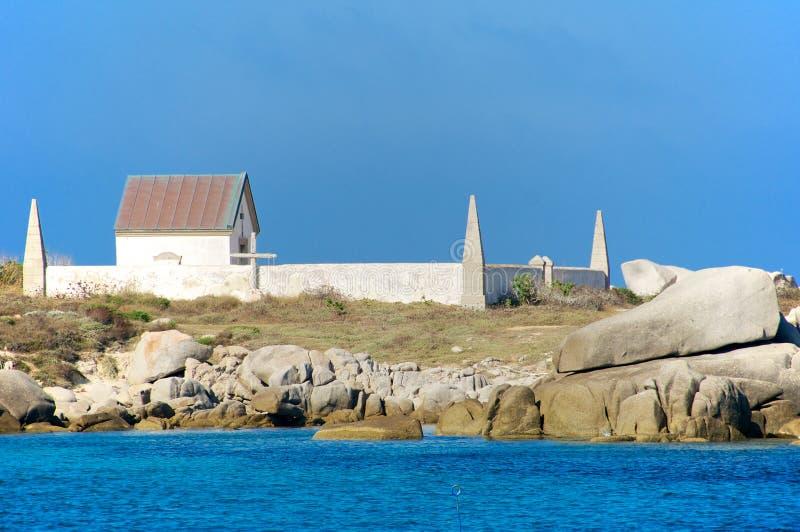 Jeden dwa cmentarza dokąd ofiary Sémillante shipwreck zakopywali fotografia stock