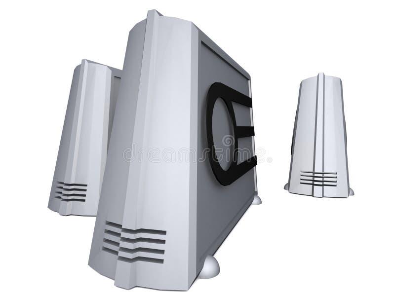 jeden dwa tovers komputera osobistego ilustracji