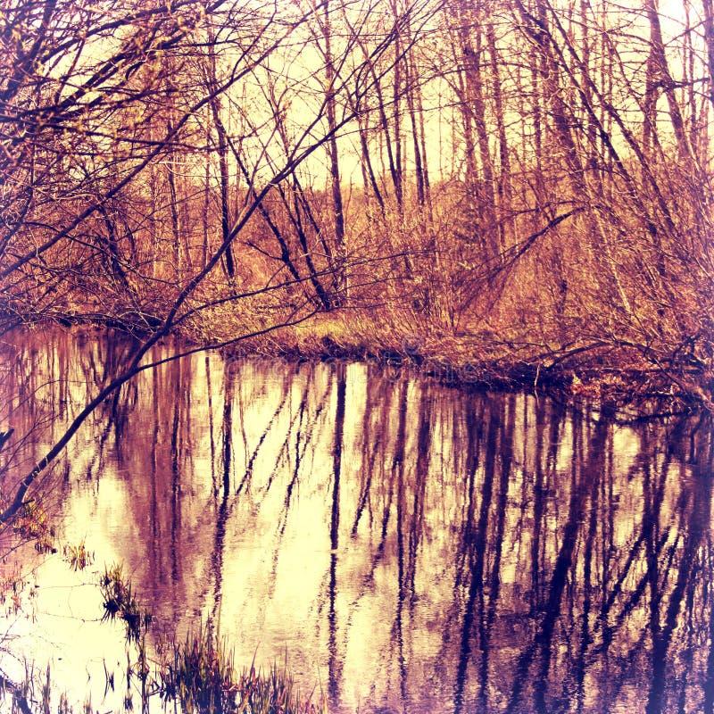 Jeden dzień blisko rzeki obrazy stock