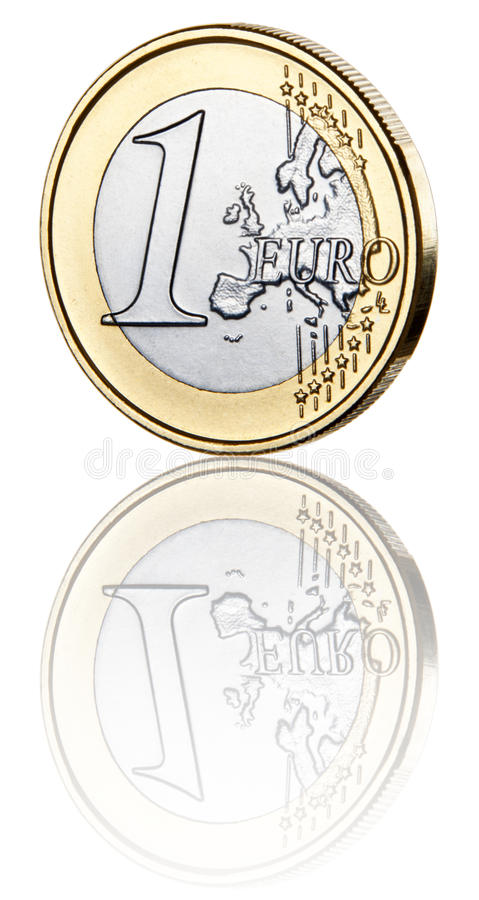 Jeden euro moneta obrazy royalty free