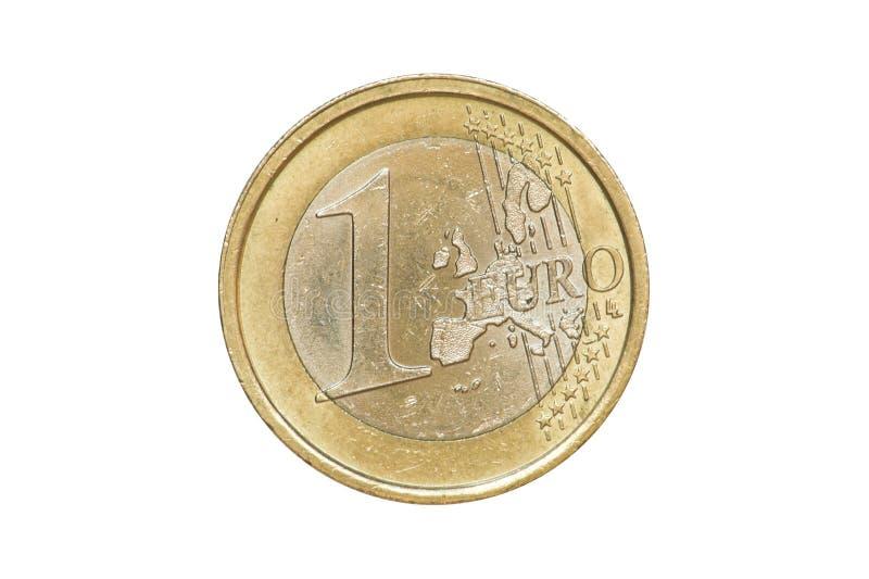Jeden Euro monety 2002 przód obrazy stock