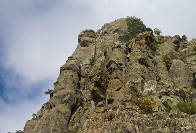 Jeden halni szczyty południowy Demerdzhi fotografia royalty free
