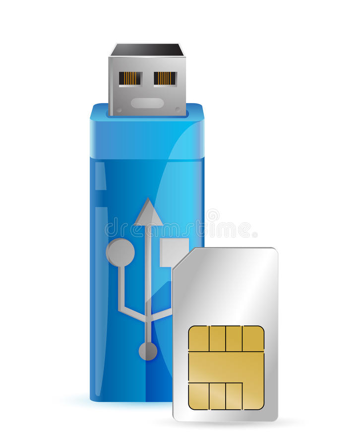 Download Jeden Interneta Klucz Z Sim Kartą Ilustracji - Obraz: 28518244
