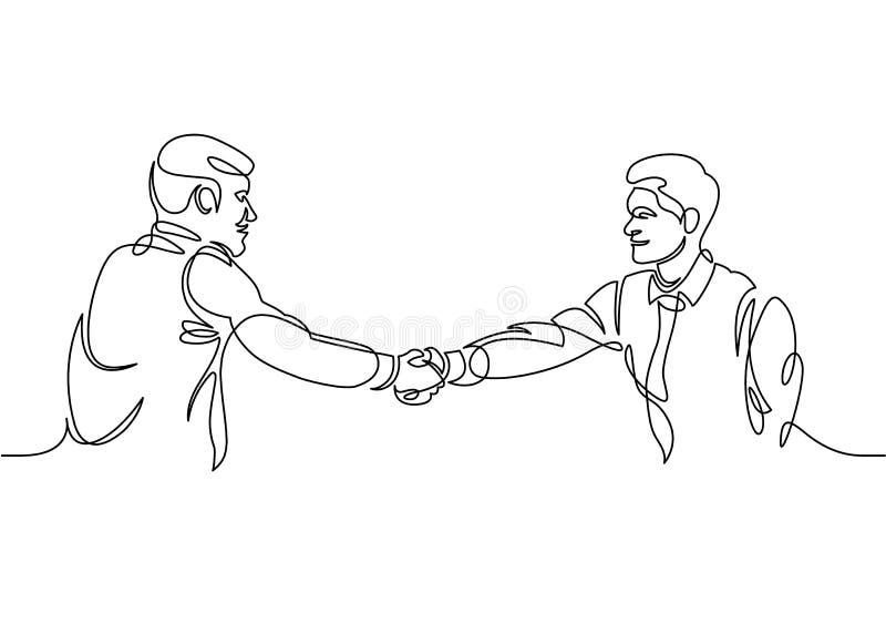 Jeden kreskowego rysunku biznesmen ilustracja wektor