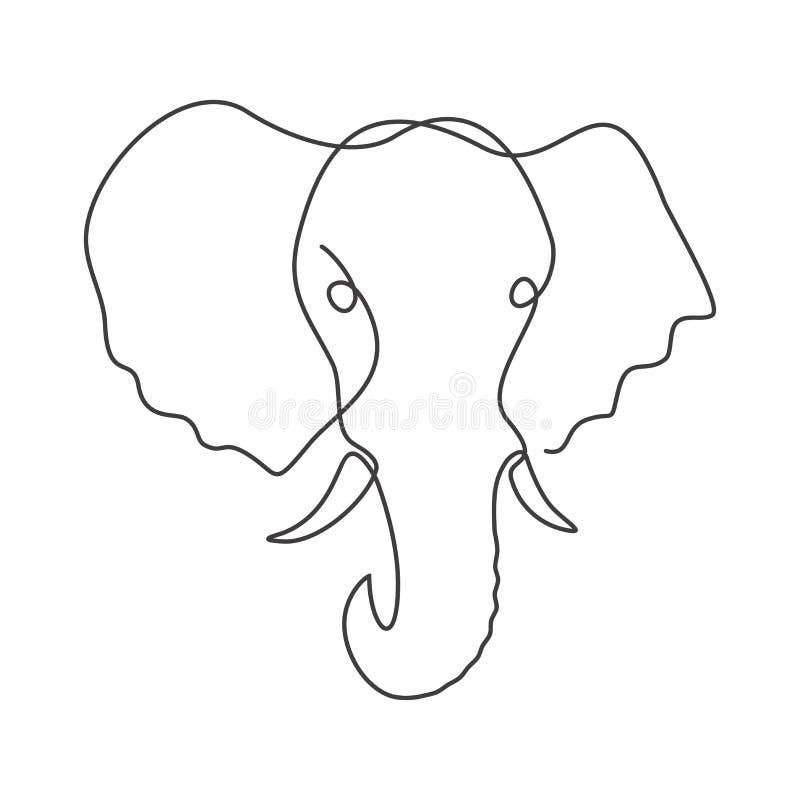 Jeden kreskowy rysunek royalty ilustracja