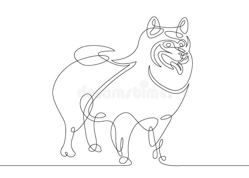 Jeden linia pies ilustracja wektor