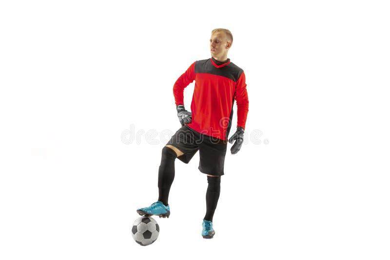 Jeden męski gracz piłki nożnej bramkarz obraz stock