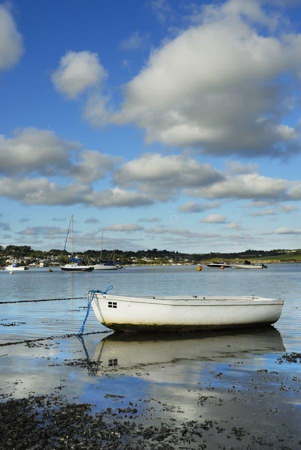 Jeden Mała Łódka, UK Padstow Schronienie. obraz stock
