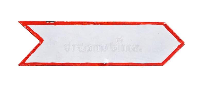 Jeden metal malujący biały strzała znak odizolowywający obraz royalty free
