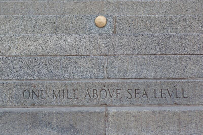Jeden mila Nad poziom morza zdjęcia stock