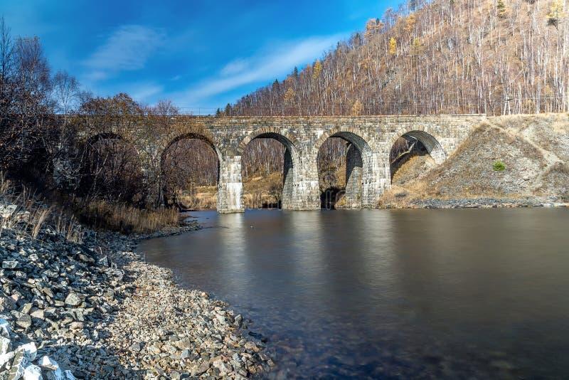 Jeden mosty na Baikal kolei fotografia royalty free