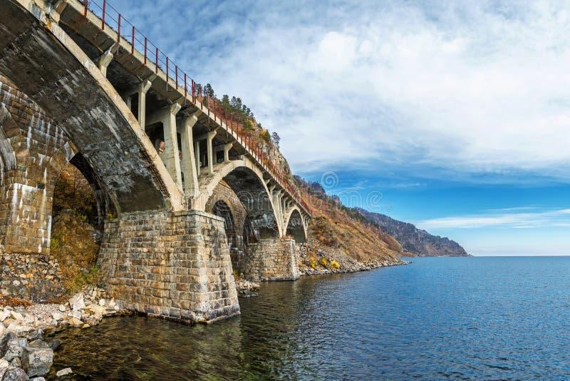 Jeden mosty na Baikal kolei obraz stock
