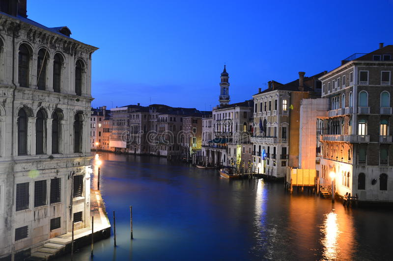 Jeden noc w Wenecja obraz stock