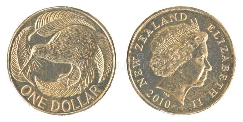 Jeden Nowa Zelandia dolara moneta zdjęcie stock